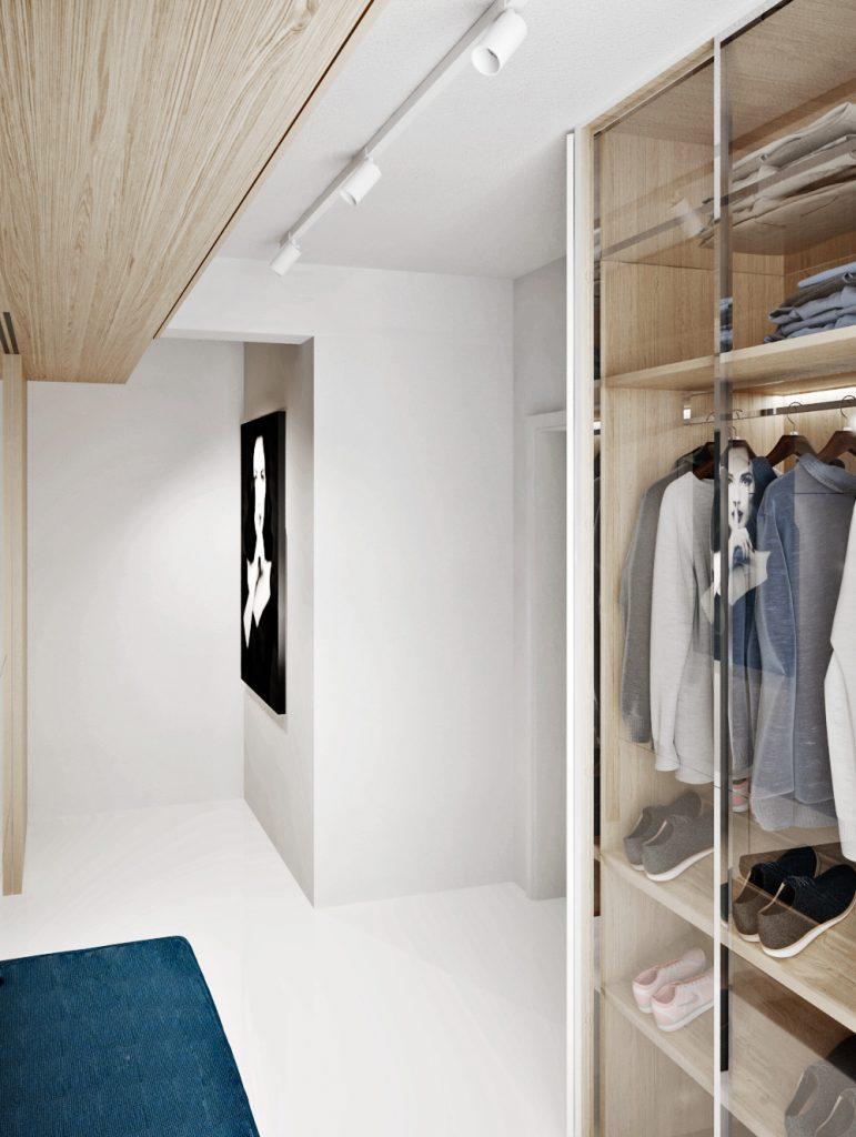 Svetlý vstupný priestor do bytu s liatou podlahou